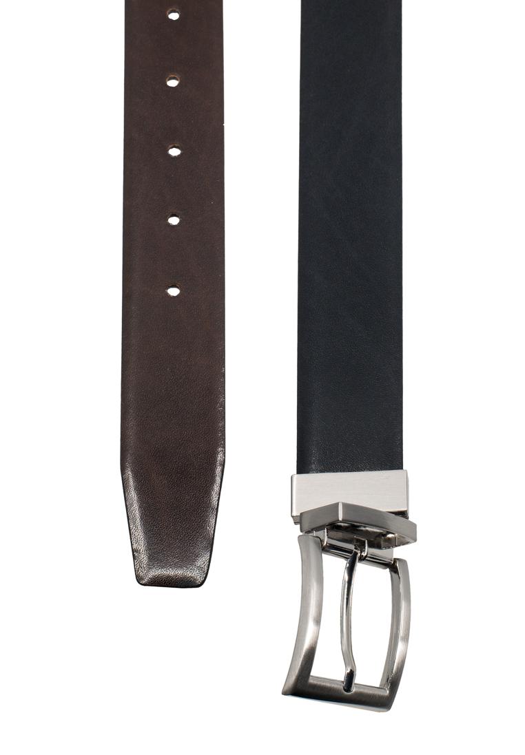 ETERNA 650 Gürtel Leder schwarz/dunkelbraun