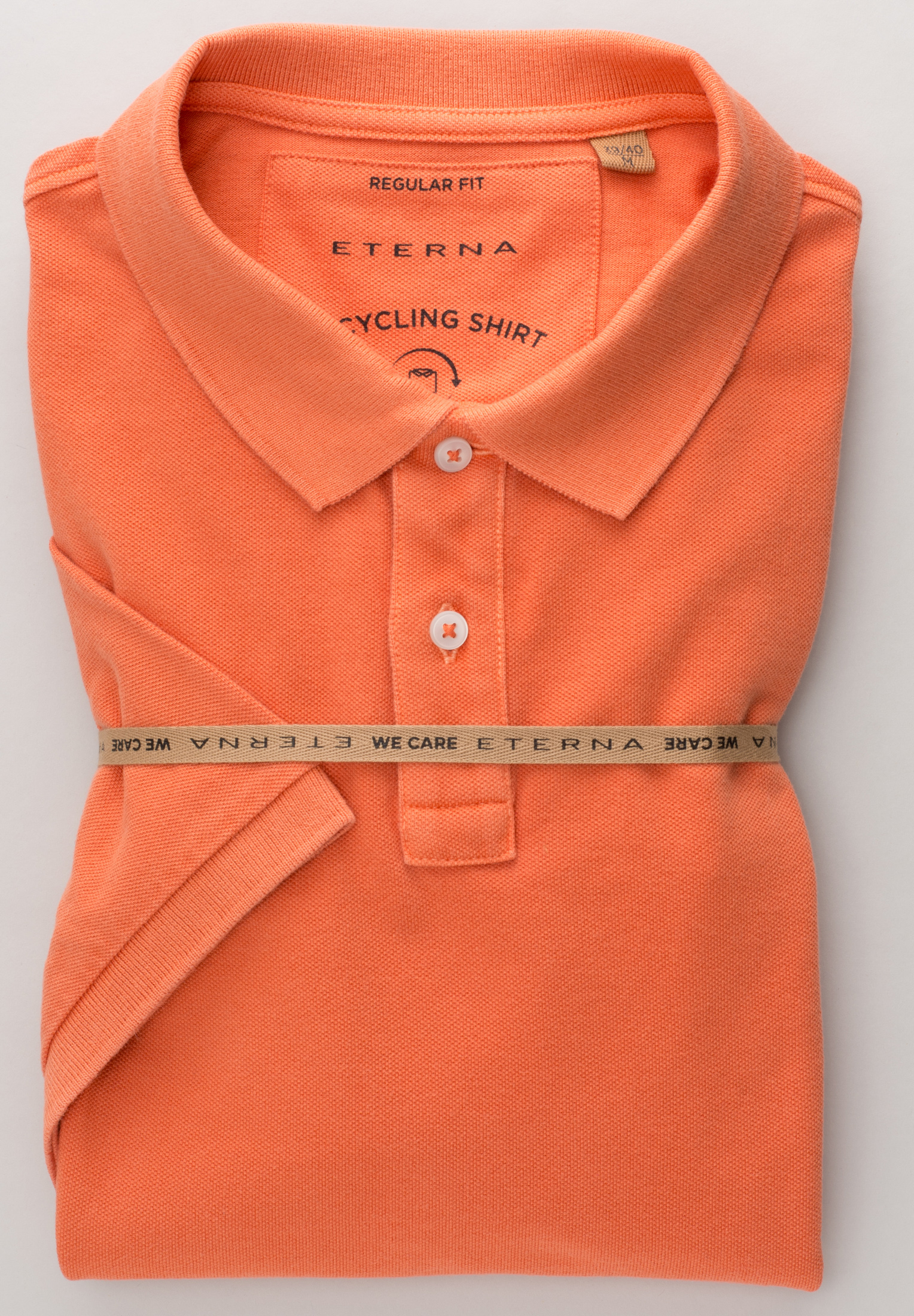 ETERNA 2223 Poloshirt Baumwolle orange