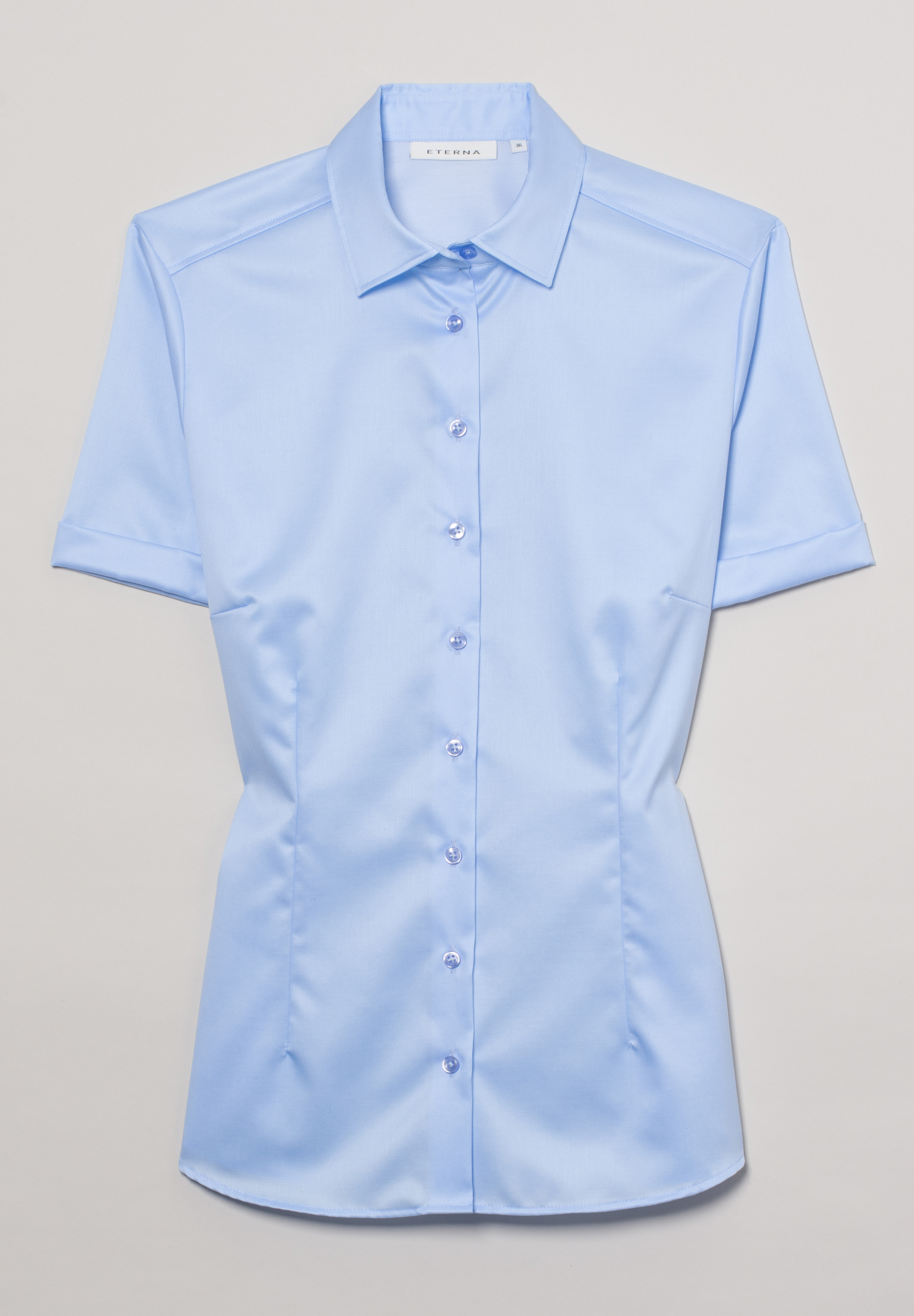 ETERNA 5008 Bluse Baumwolle hellblau
