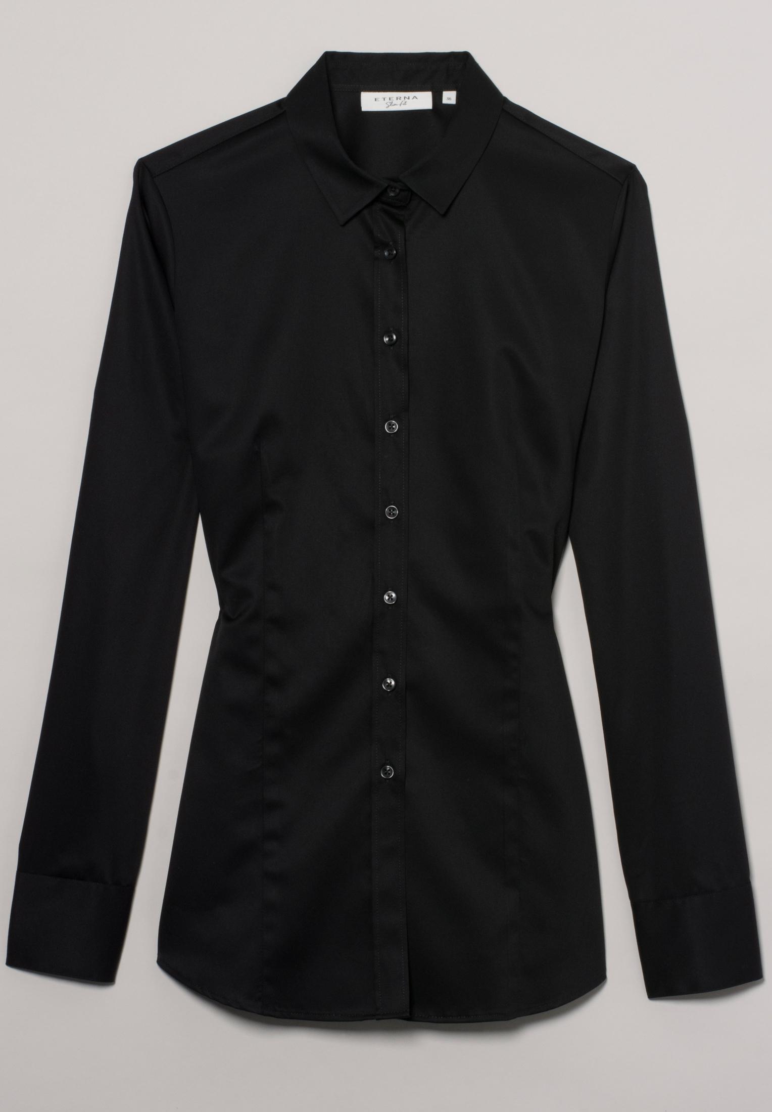 ETERNA 5352 Bluse Baumwolle, schwarz