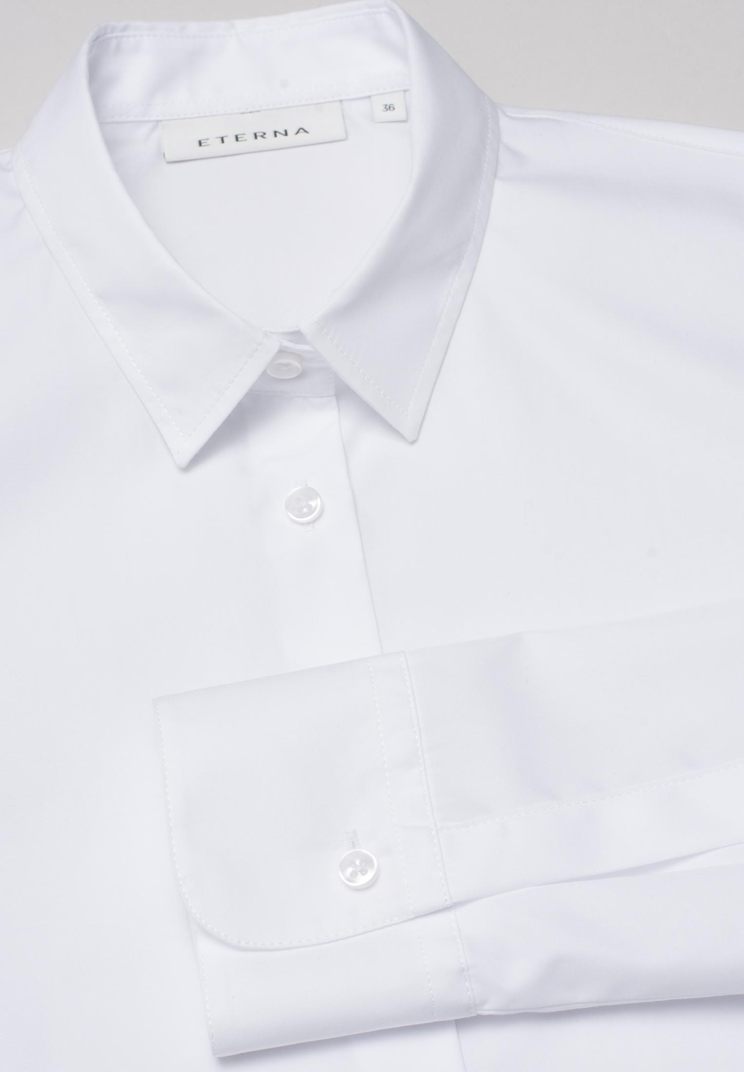 ETERNA 5145 Bluse Baumwolle weiss