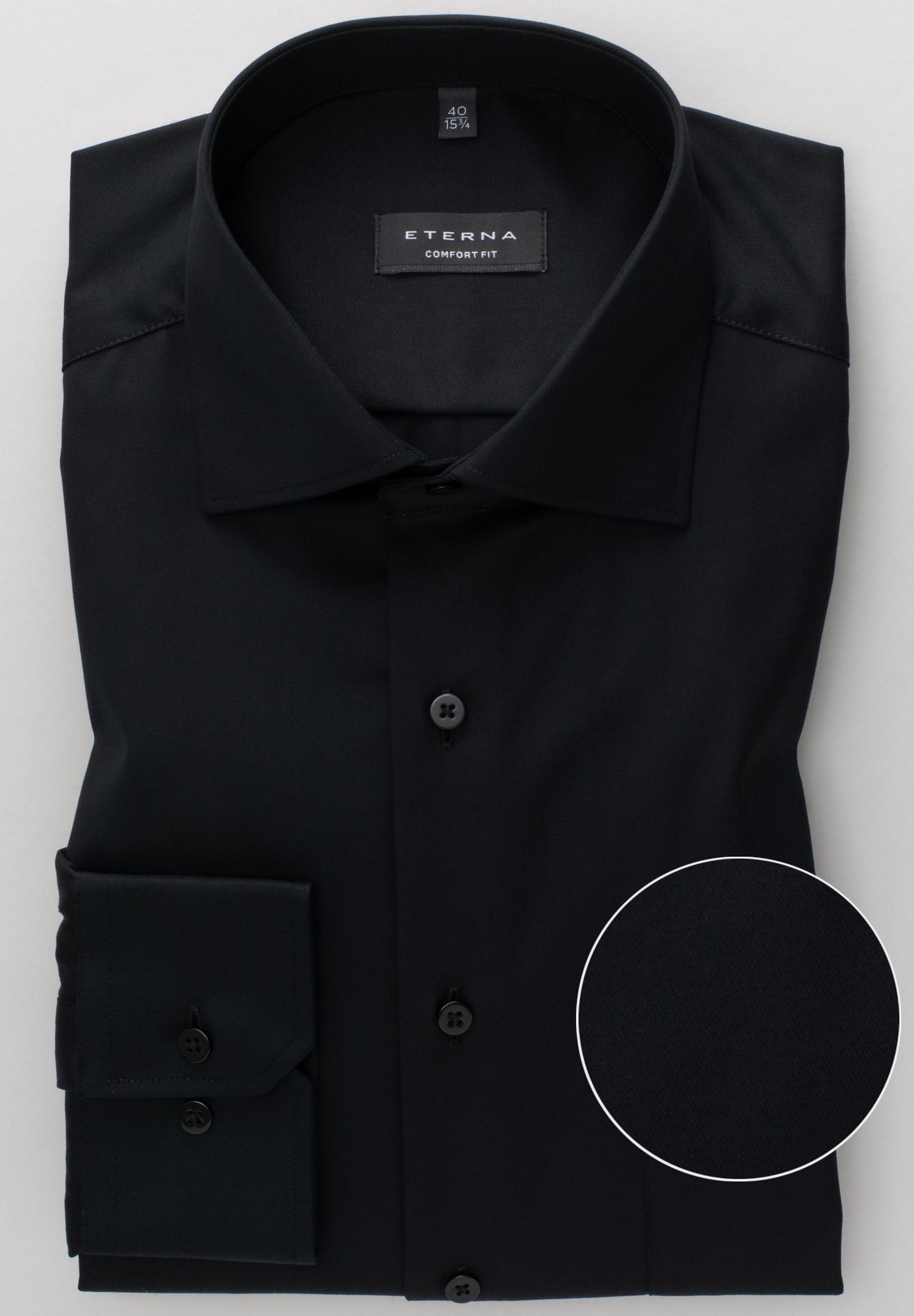 ETERNA 8817 Hemd Baumwolle schwarz Langarm