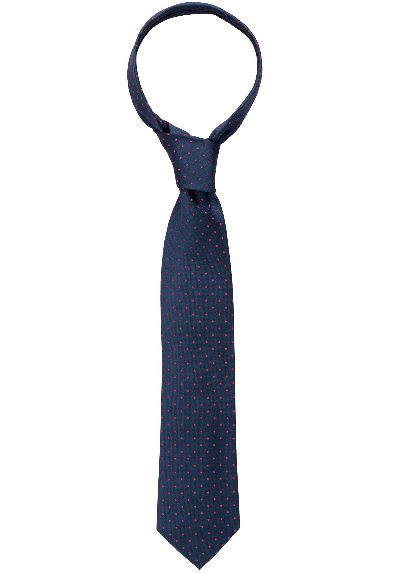 ETERNA 9026 Krawatte Seide dunkelblau/rot