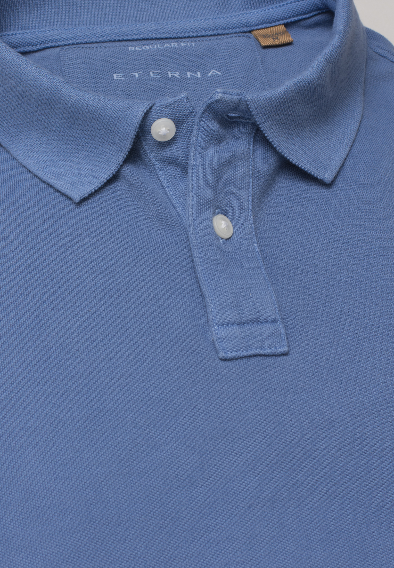 ETERNA 2223 Poloshirt Baumwolle rauchblau