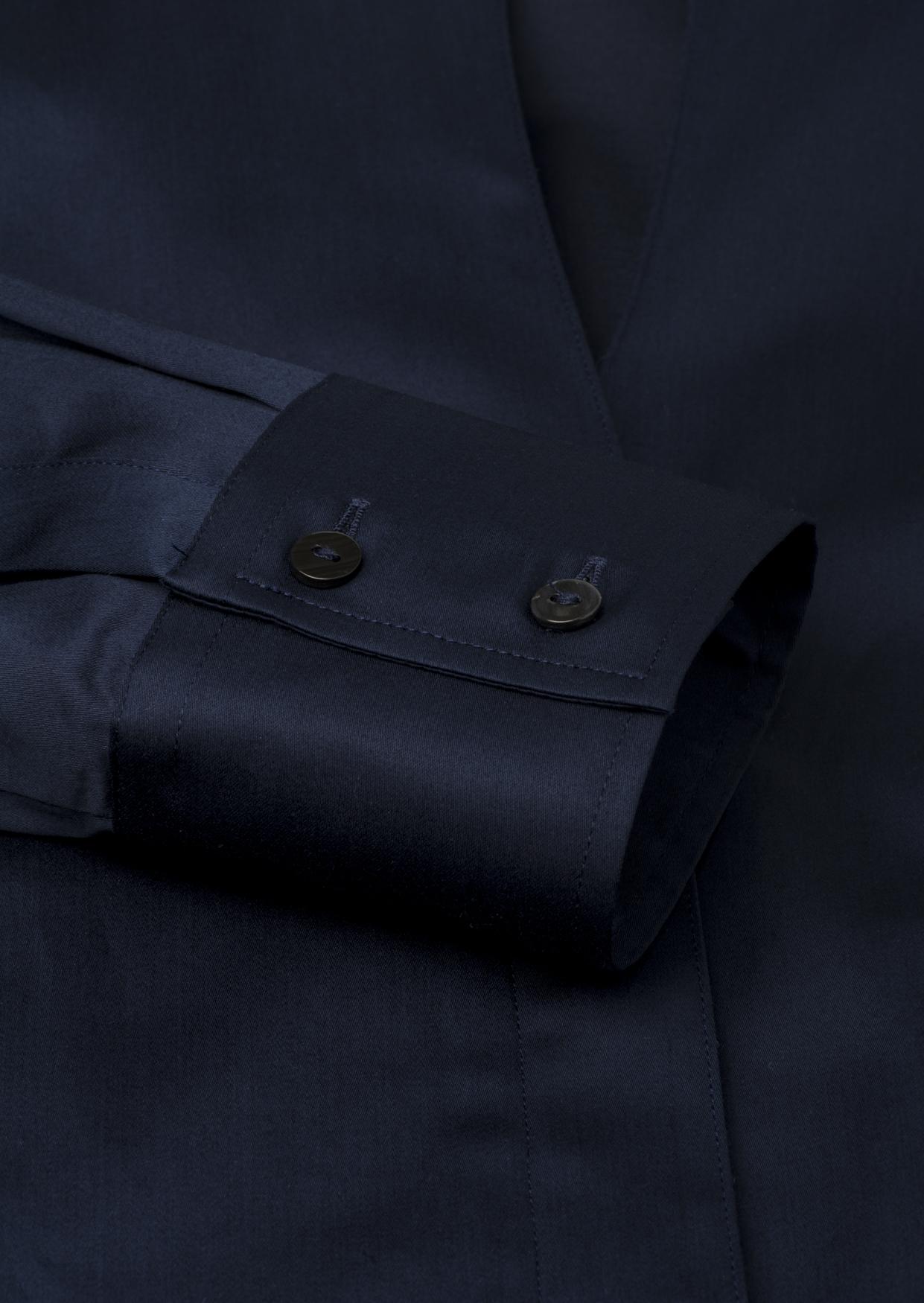 ETERNA 5352 Bluse Baumwolle, dunkelblau