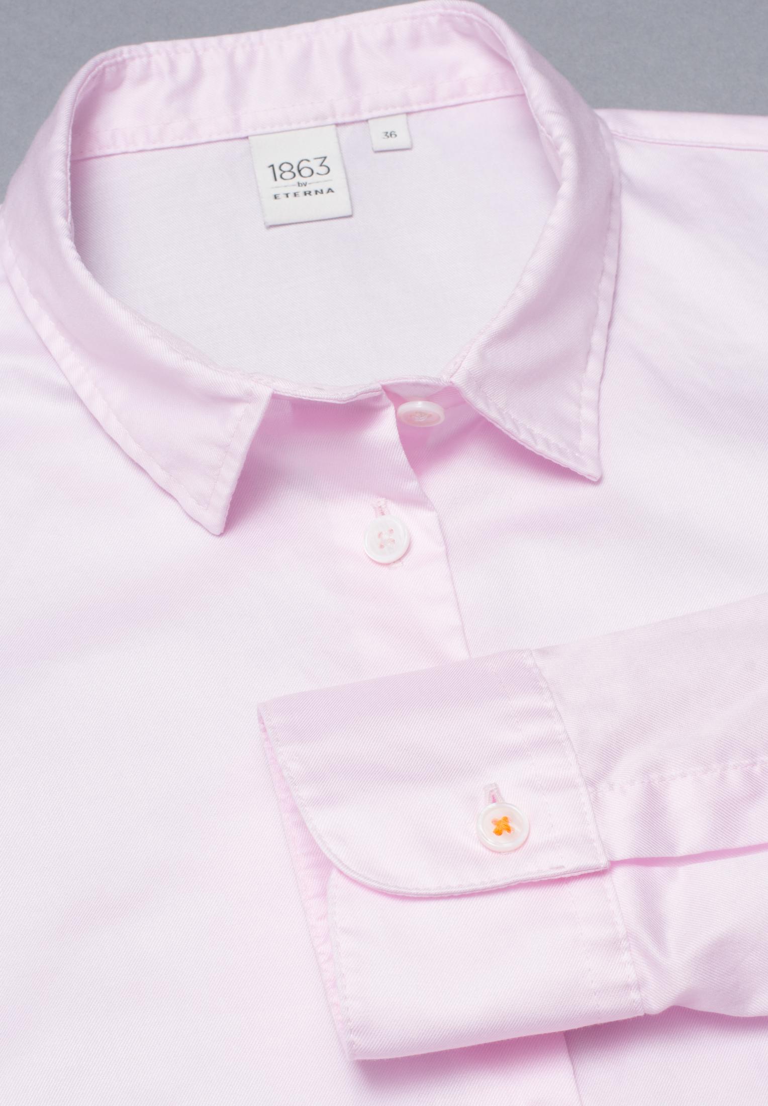 ETERNA 5850 Bluse Baumwolle rosé