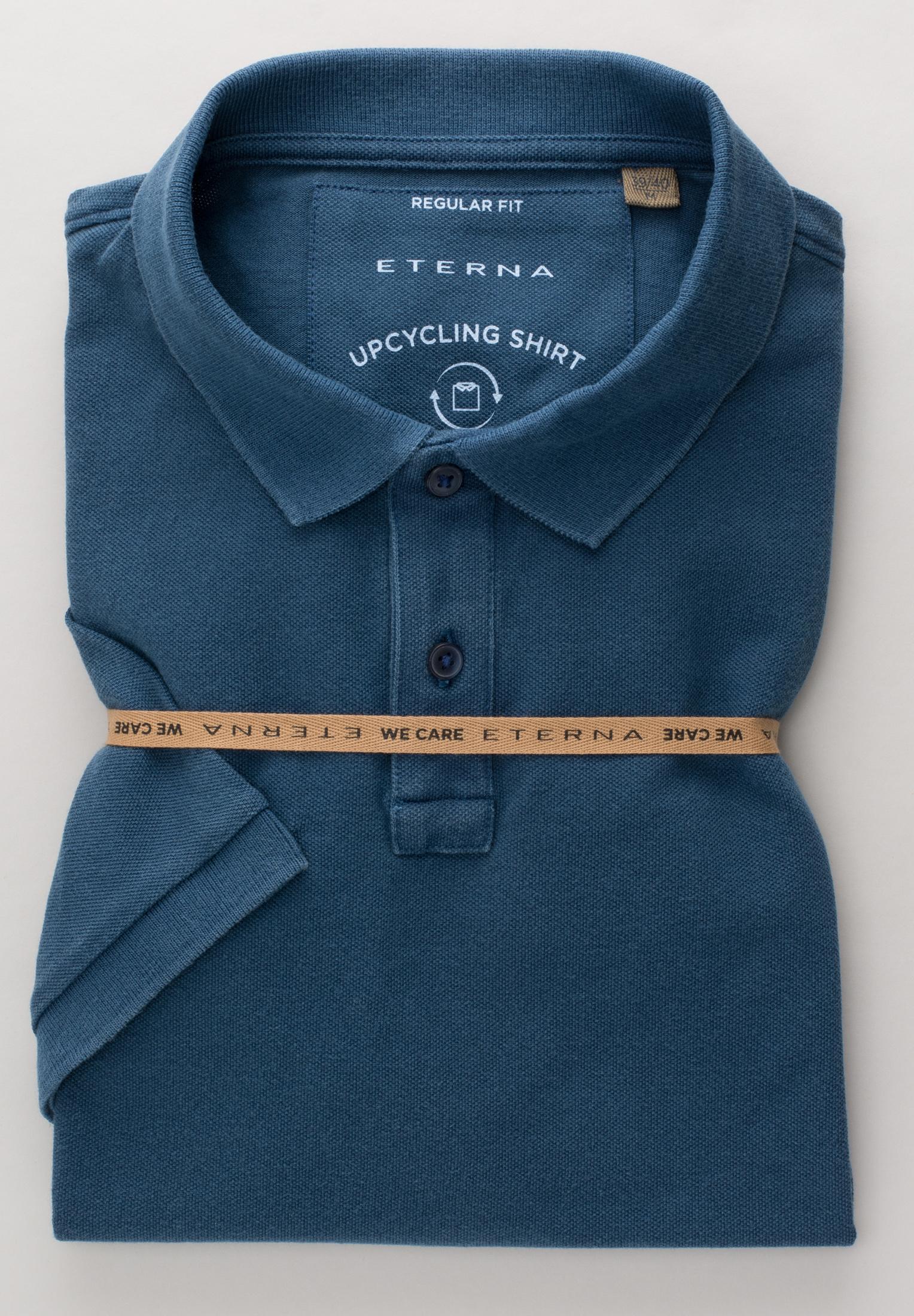 ETERNA 2223 Poloshirt Baumwolle petrolblau