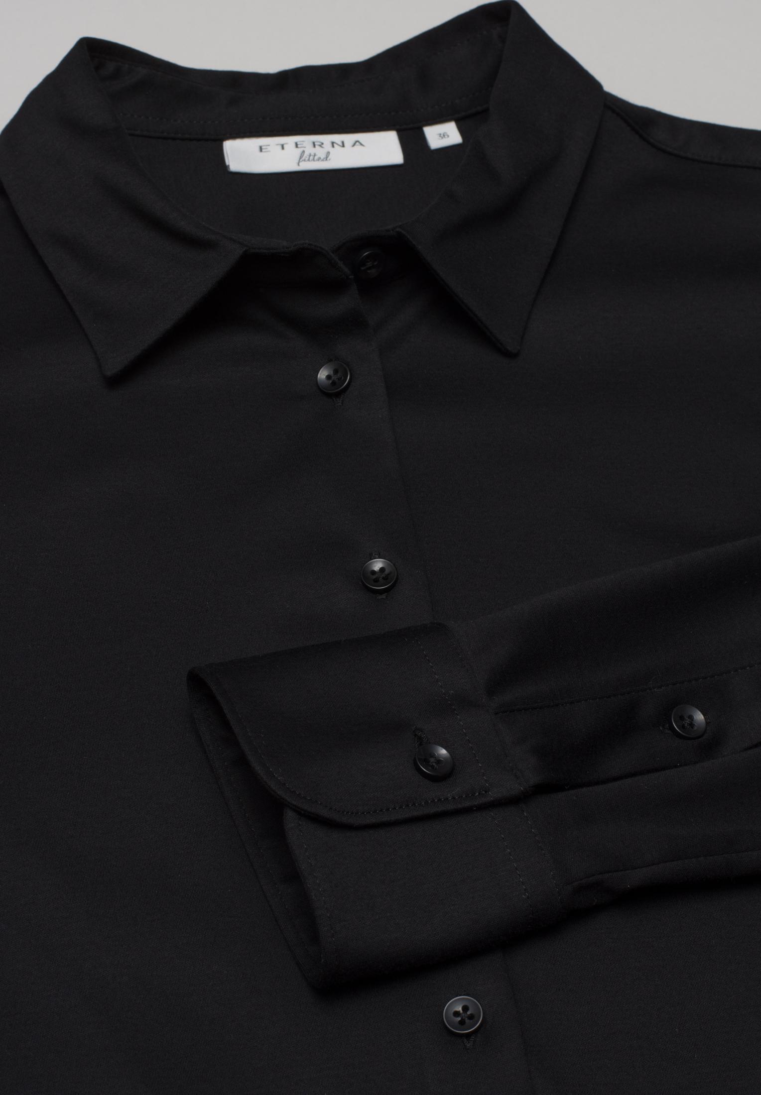 ETERNA 5158 Bluse Baumwolle schwarz