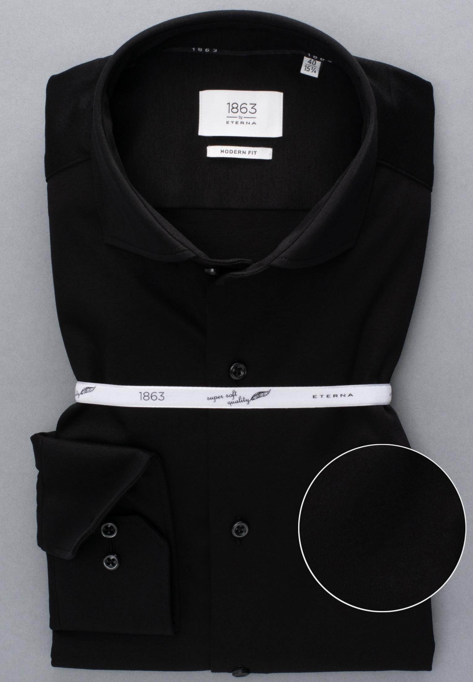ETERNA 2159 Hemd Baumwolle schwarz Langarm