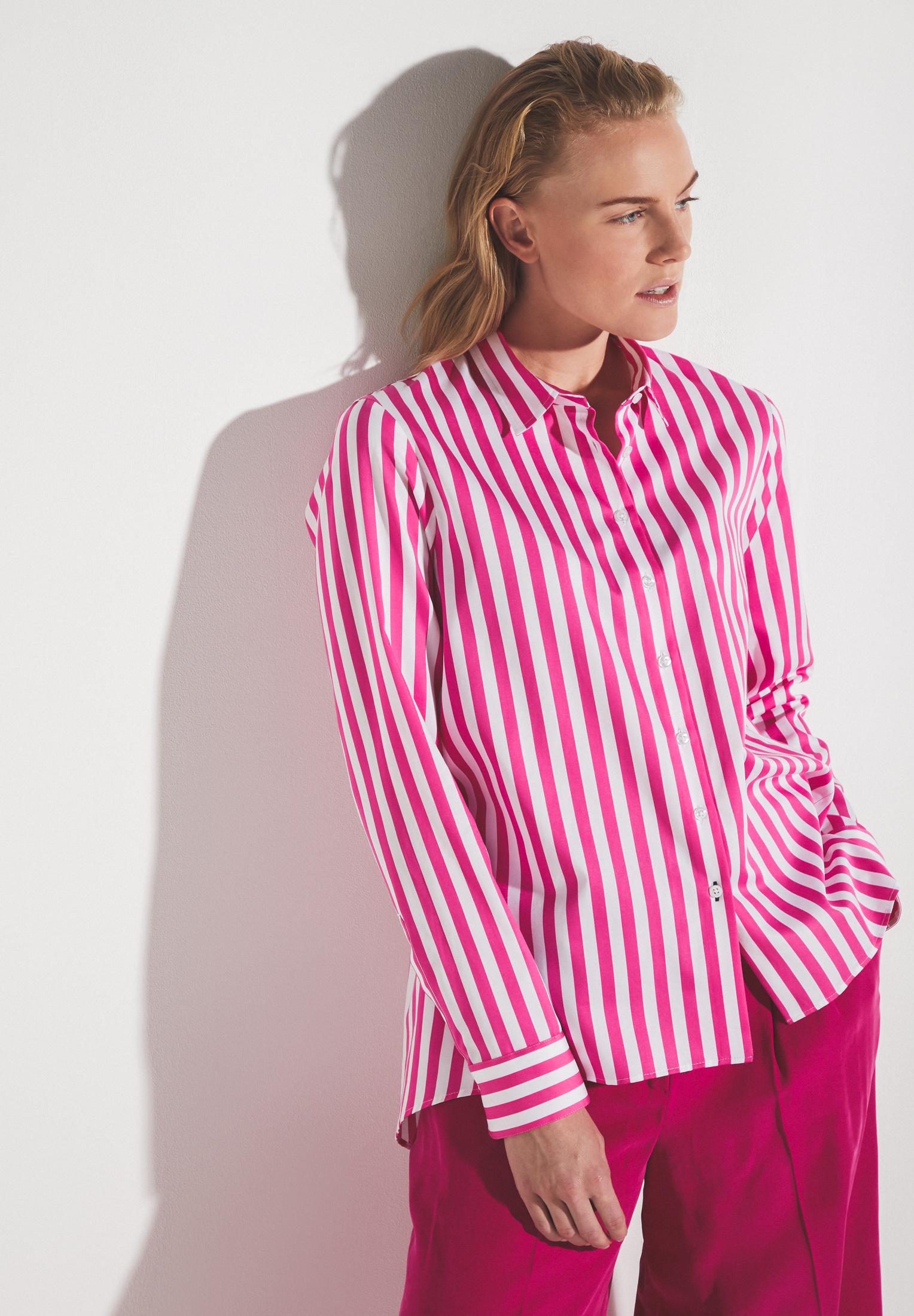 ETERNA 6285 Bluse Baumwolle pink/weiss
