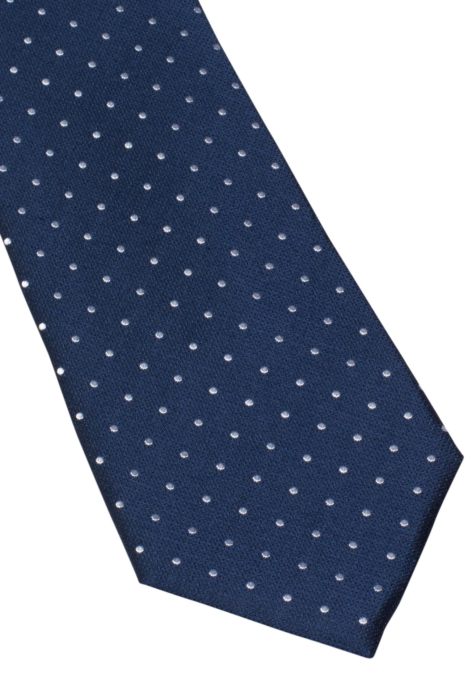 ETERNA 9026 Krawatte Seide marineblau/ weiss