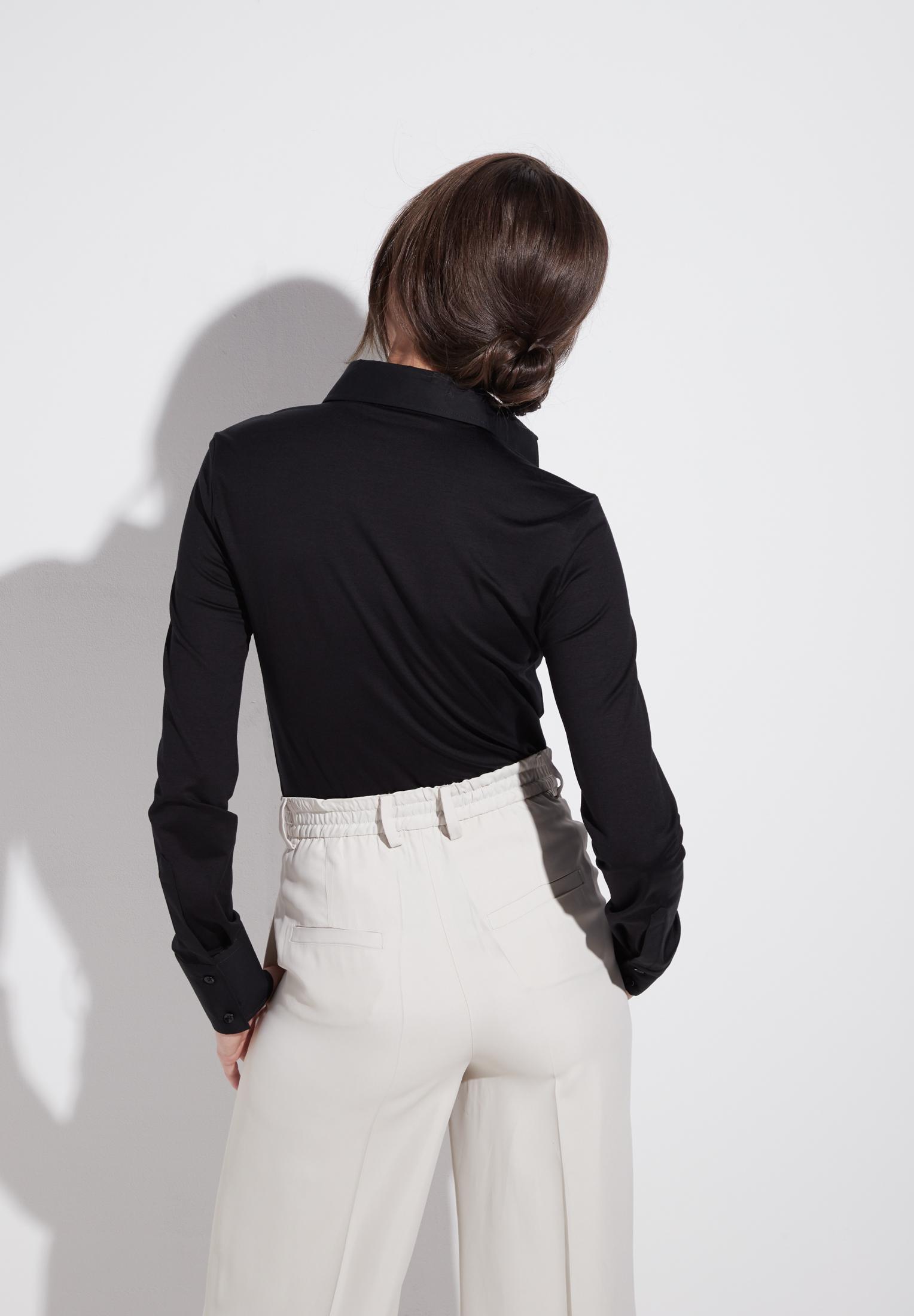 ETERNA 5213 Bluse Baumwolle, schwarz