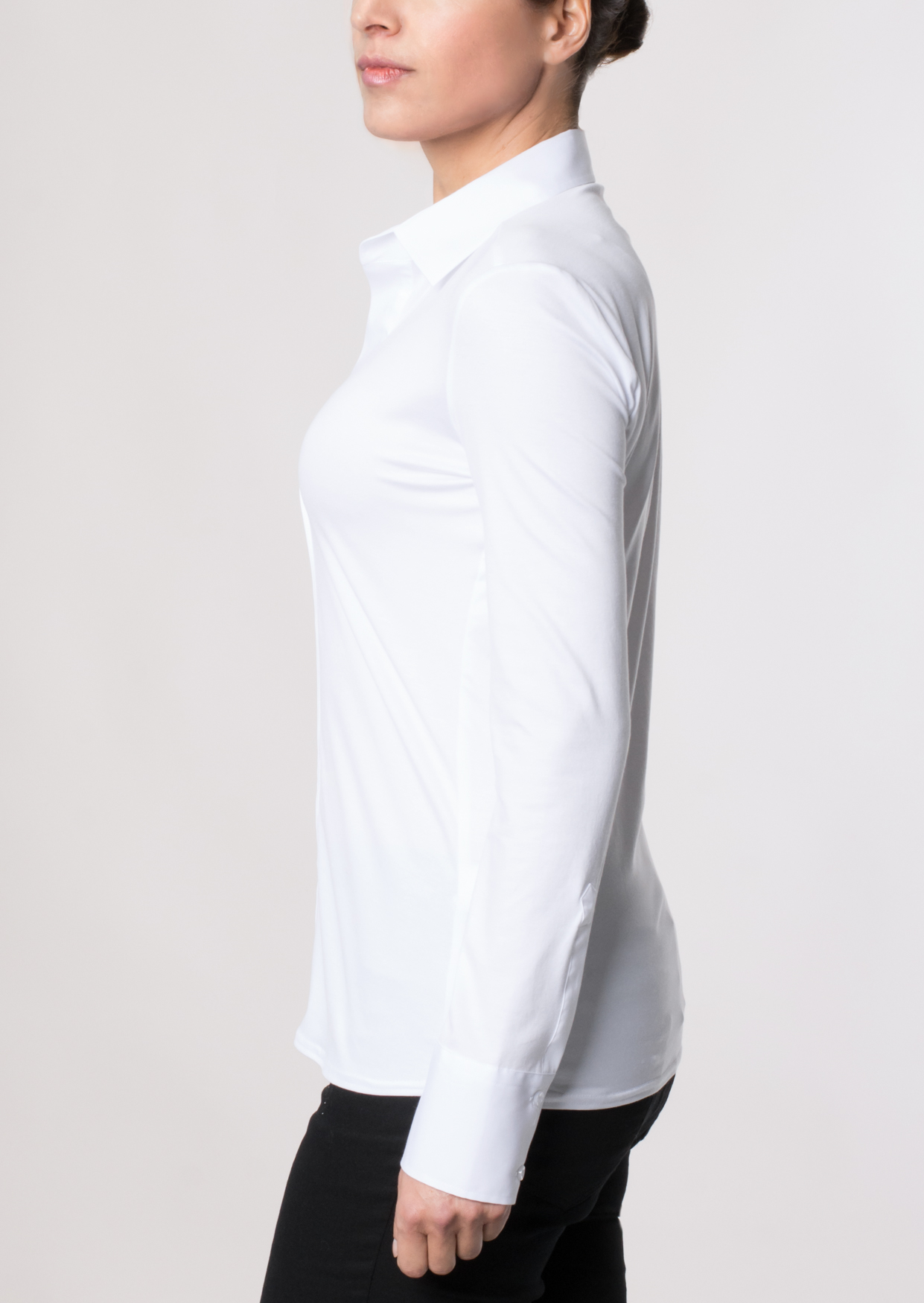 ETERNA 5213 Bluse Baumwolle, weiss