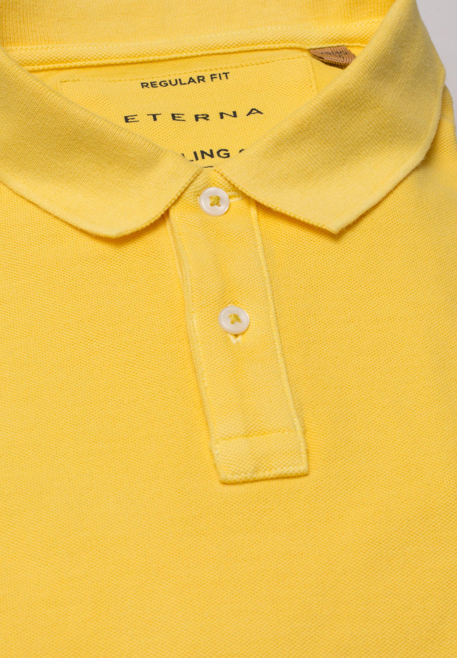 ETERNA 2223 Poloshirt Baumwolle gelb