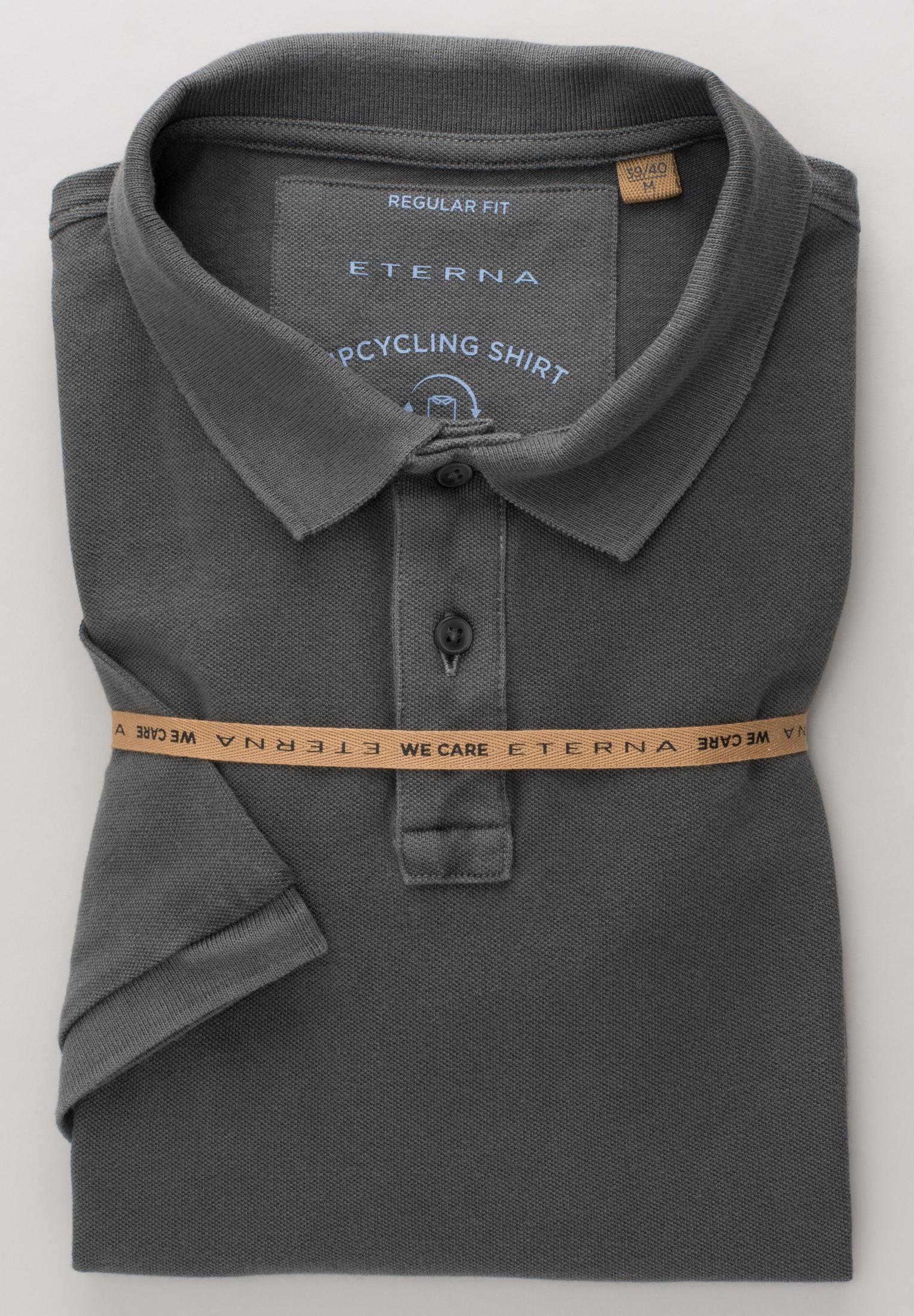 ETERNA 2223 Poloshirt Baumwolle grau