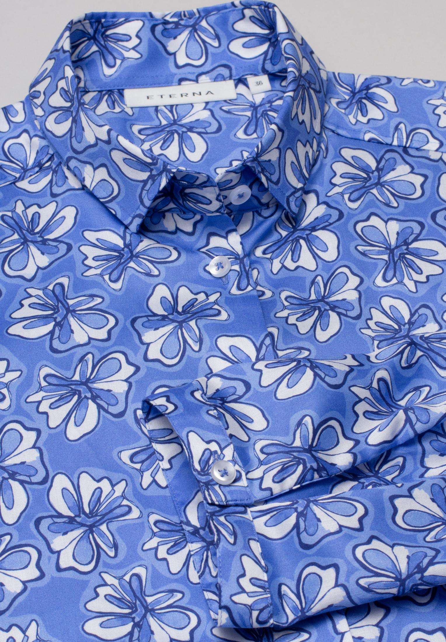 ETERNA 7089 Bluse Baumwolle hellblau
