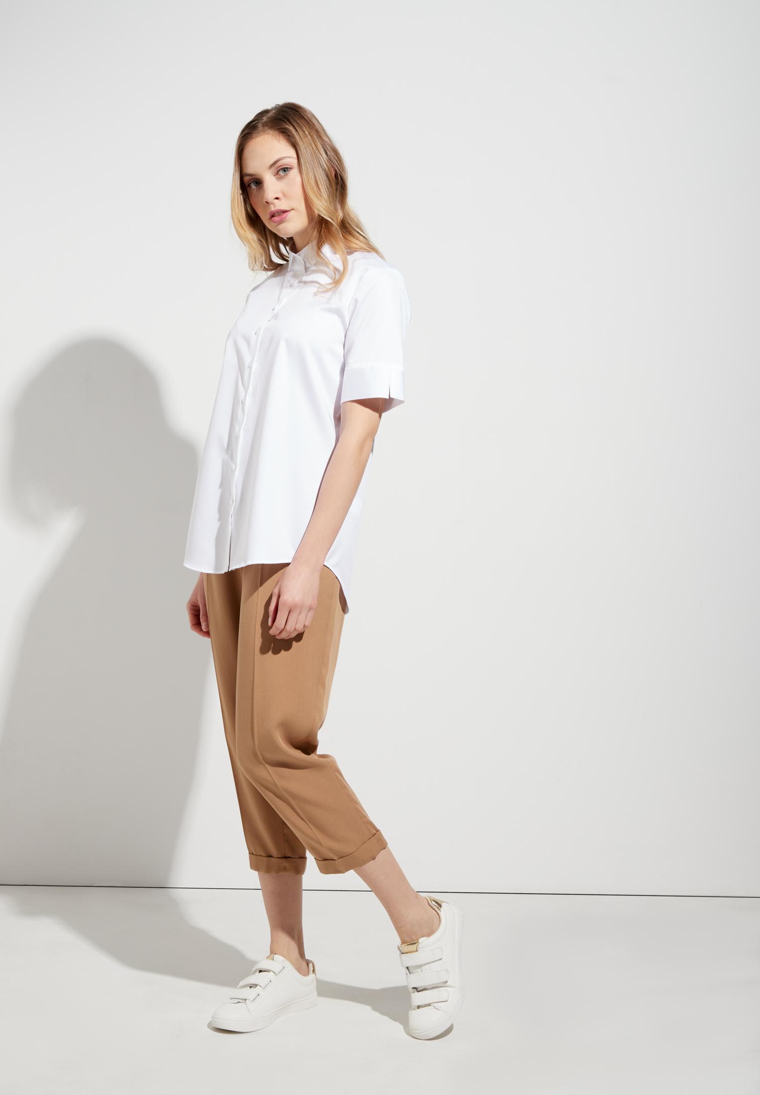 ETERNA 5585 Bluse Baumwolle, weiss