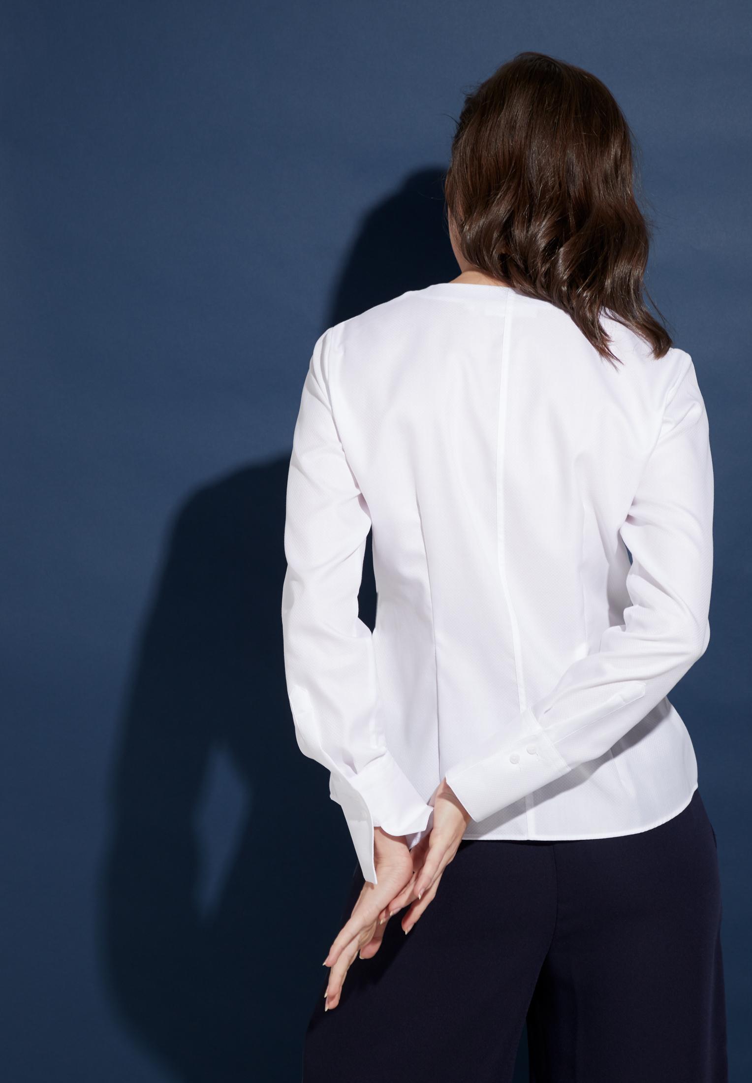 ETERNA 5080 Bluse Baumwolle weiss
